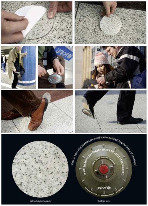 marco creativo - minas anti persona unicef