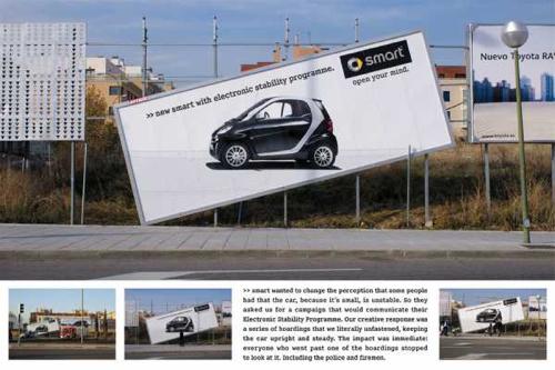 marco creativo - smart publicidad creativa valla