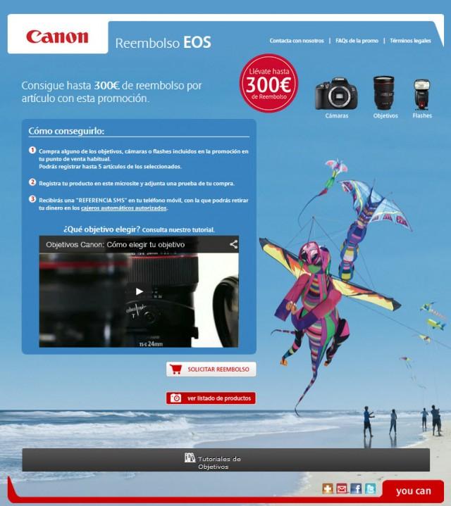Promoción CANON Reembolso de hasta 300 euros