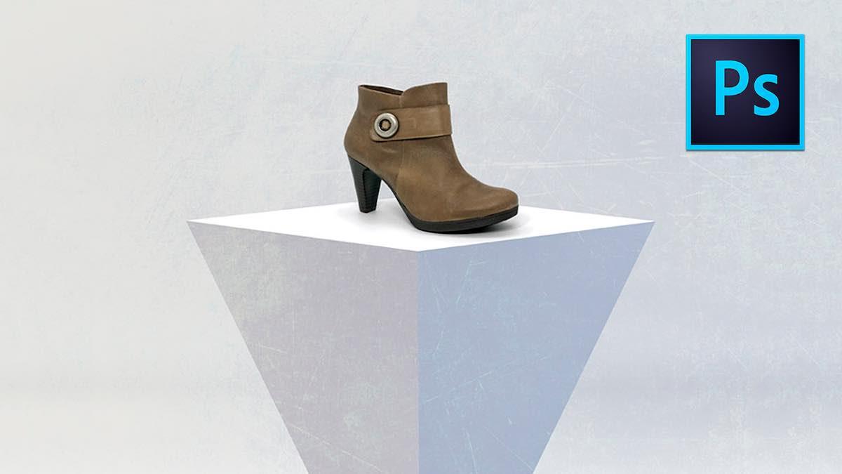 Como colocar un zapato sobre un fondo en Photoshop