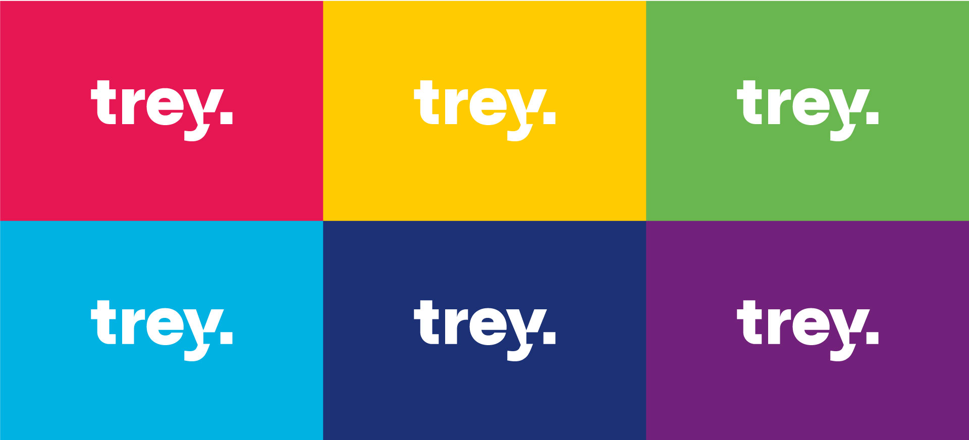 trey versiones a color logo marca marco creativo